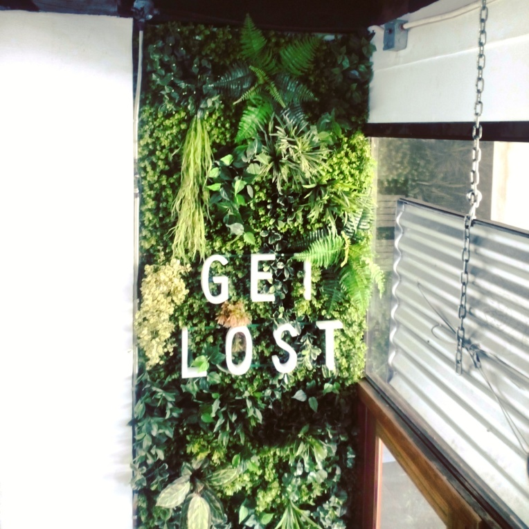 this beautiful vertical garden will welcome you at The Lost Bread